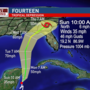 Tropical Depression 14 forms, headed for Gulf Coast