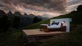 Photos: The wall and windowless hotel in the Swiss Alps