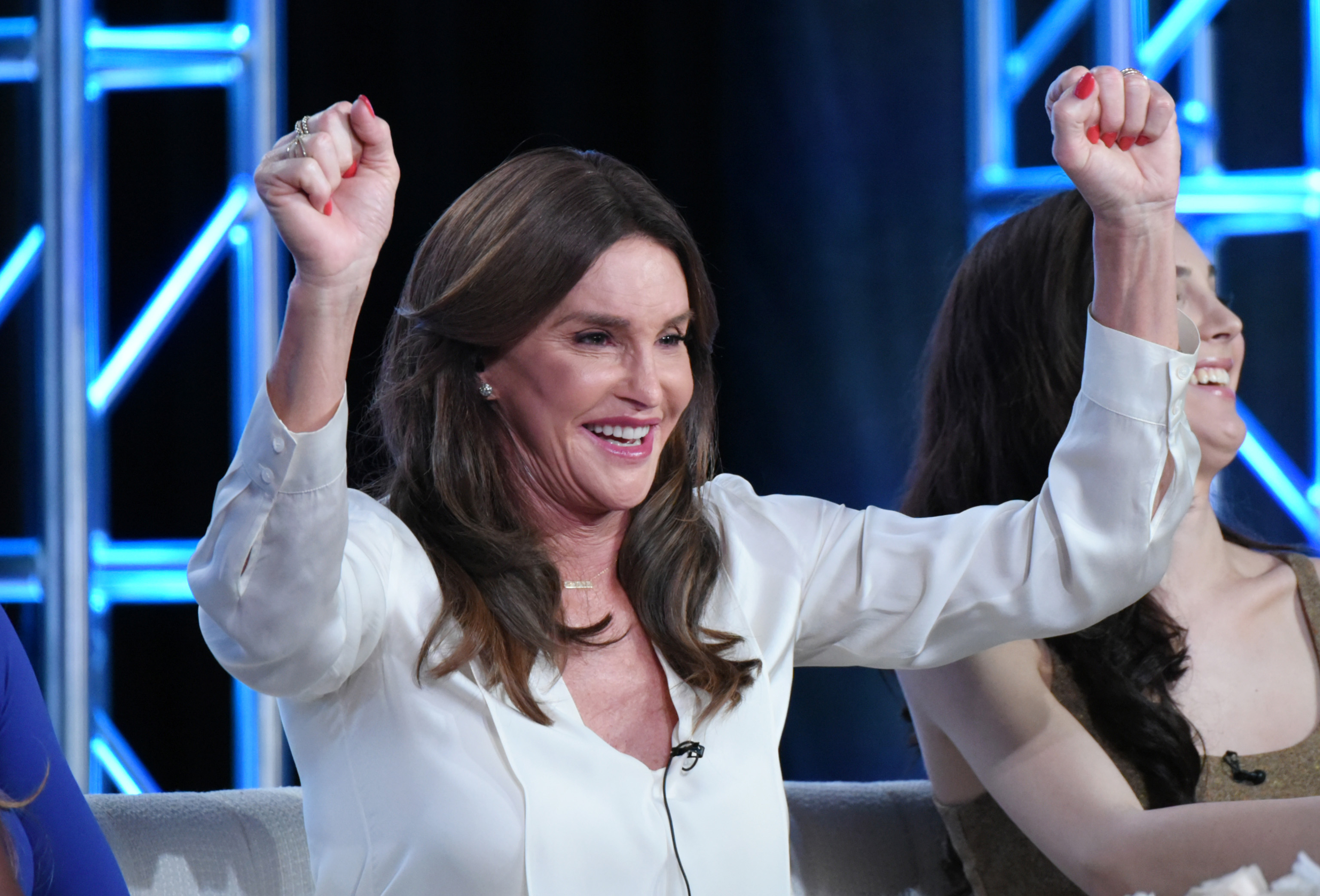 "FILE - In a Thursday, Jan. 14, 2016 photo, Caitlyn Jenner participates in E!'s ""I Am Cait"" panel at the NBCUniversal Winter TCA, in Pasadena, Calif. Grand Central Publishing announced Tuesday, Jan. 19, 2016, that it plans a Spring 2017 publication for a memoir by Jenner.  (Photo by Richard Shotwell/Invision/AP)"
