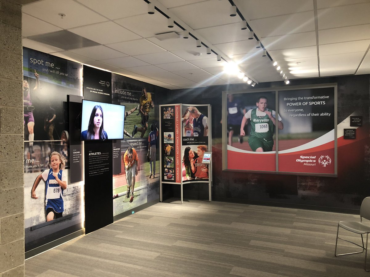 One section of the facility showcases various Missouri Special Olympics Athletes (Lexie Petrovic/KRCG13).<p></p><p></p>