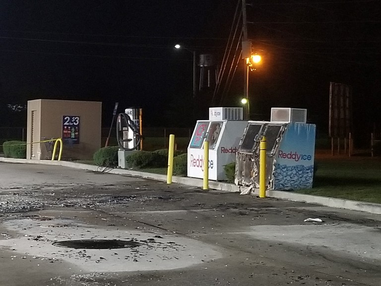 Debris from Walterboro Gas Station Fire
