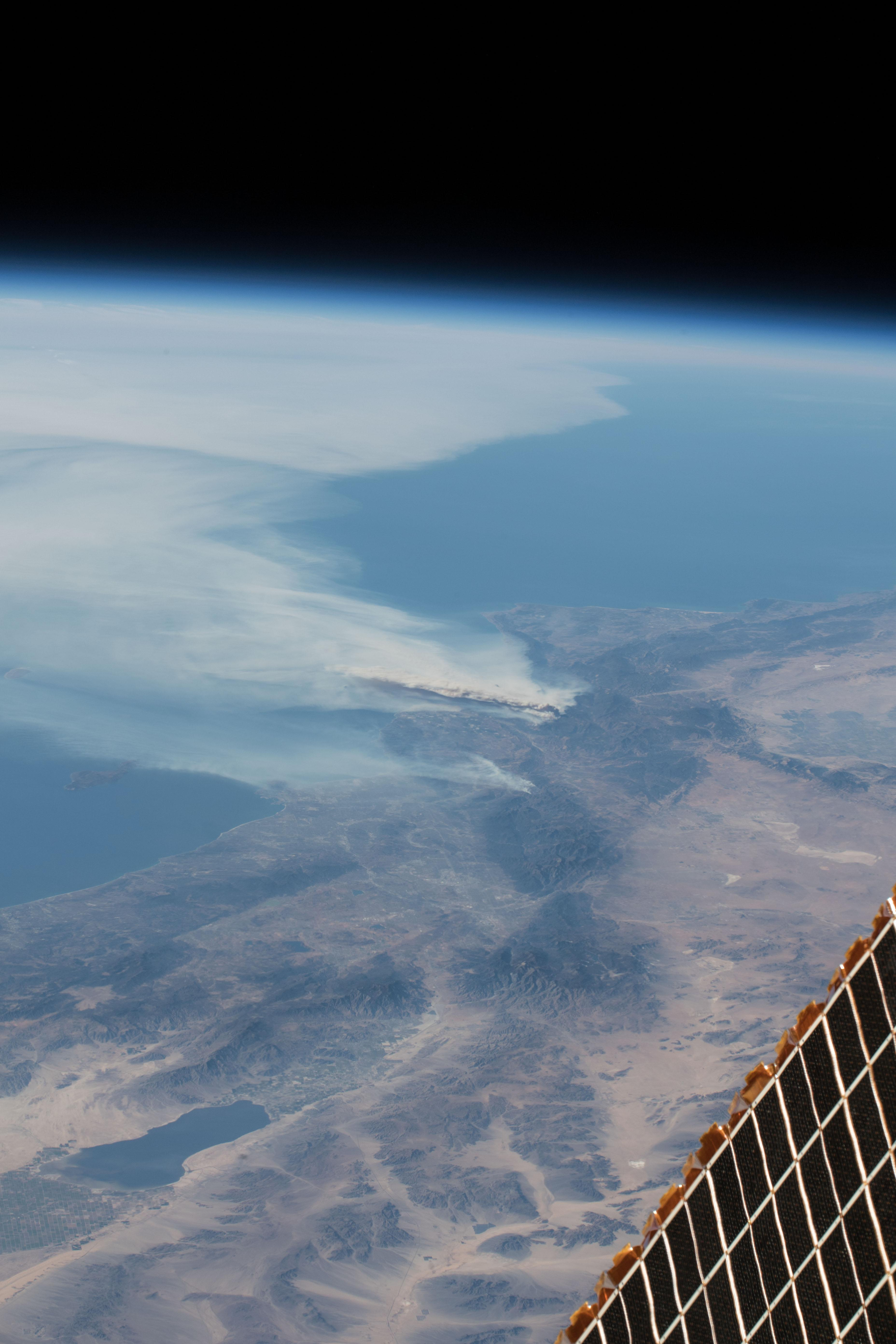 The crew aboard the station took some incredible photographs of the northern California wildfires over three days from their orbital perspective 250 miles above Earth's surface.{ } (CC BY-NC-ND 2.0)