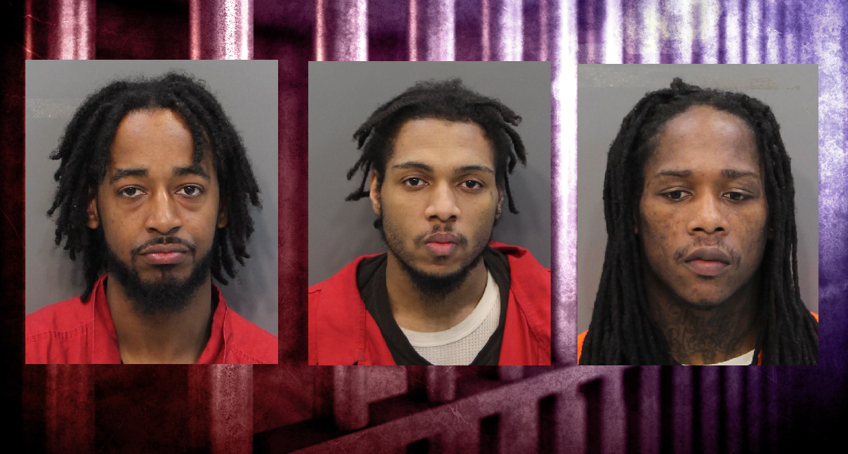 The state of Tennessee is seeking the death penalty for three men accused of murdering a woman before she could testify against a gang member. (L-R) Andre Grier, Courtney High, Charles Shelton (Images: Hamilton Co. Sheriff's Office, MGN)