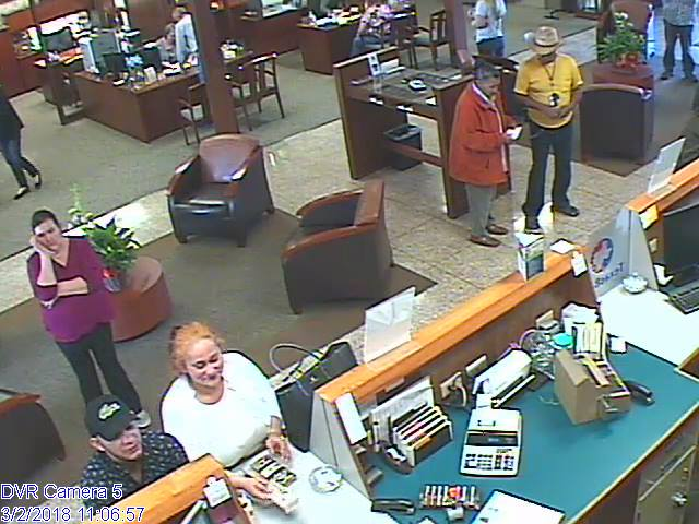 Brownwood police are looking for a couple wanted for stealing $1,700 from a bank.