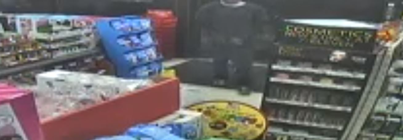 Vernal police are seeking to identify a man wearing a bandanna who robbed a 7-Eleven store on Wednesday. (Photo: Screen grab from video surveillance)