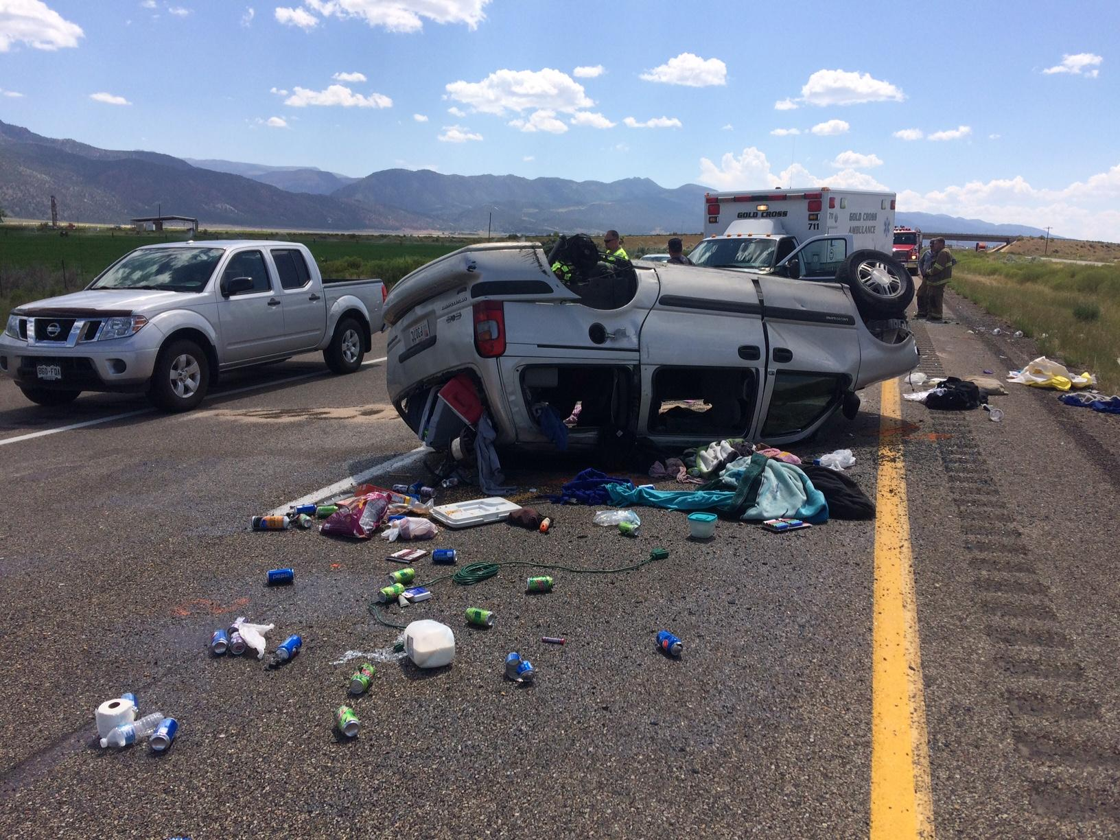 An accident on I-15 killed one Saturday afternoon (Photo: Utah Department of Public Safety)