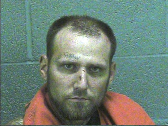 Patrick Smith, 32, was taken to the hospital and later jail following a pursuit early Sept. 21 in central Oklahoma. (Courtesy OHP)