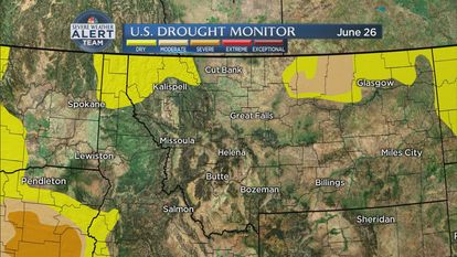 June rainfall above normal, dry conditions on the way