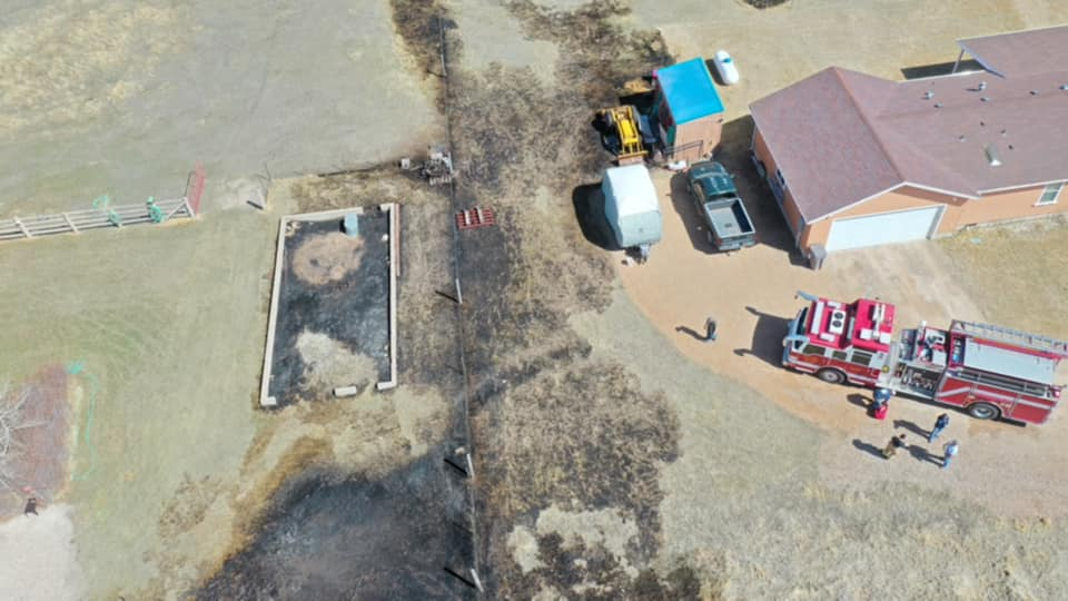 Another fire Sunday caused by some burning on private property in Bear River. Here is a cool aerial shot. Conditions are warm and dry and caution is urged. Evanston crews contained the fire quickly and to under 2 acres. (Photo: Uinta County Fire & Ambulance / Facebook)<p></p>
