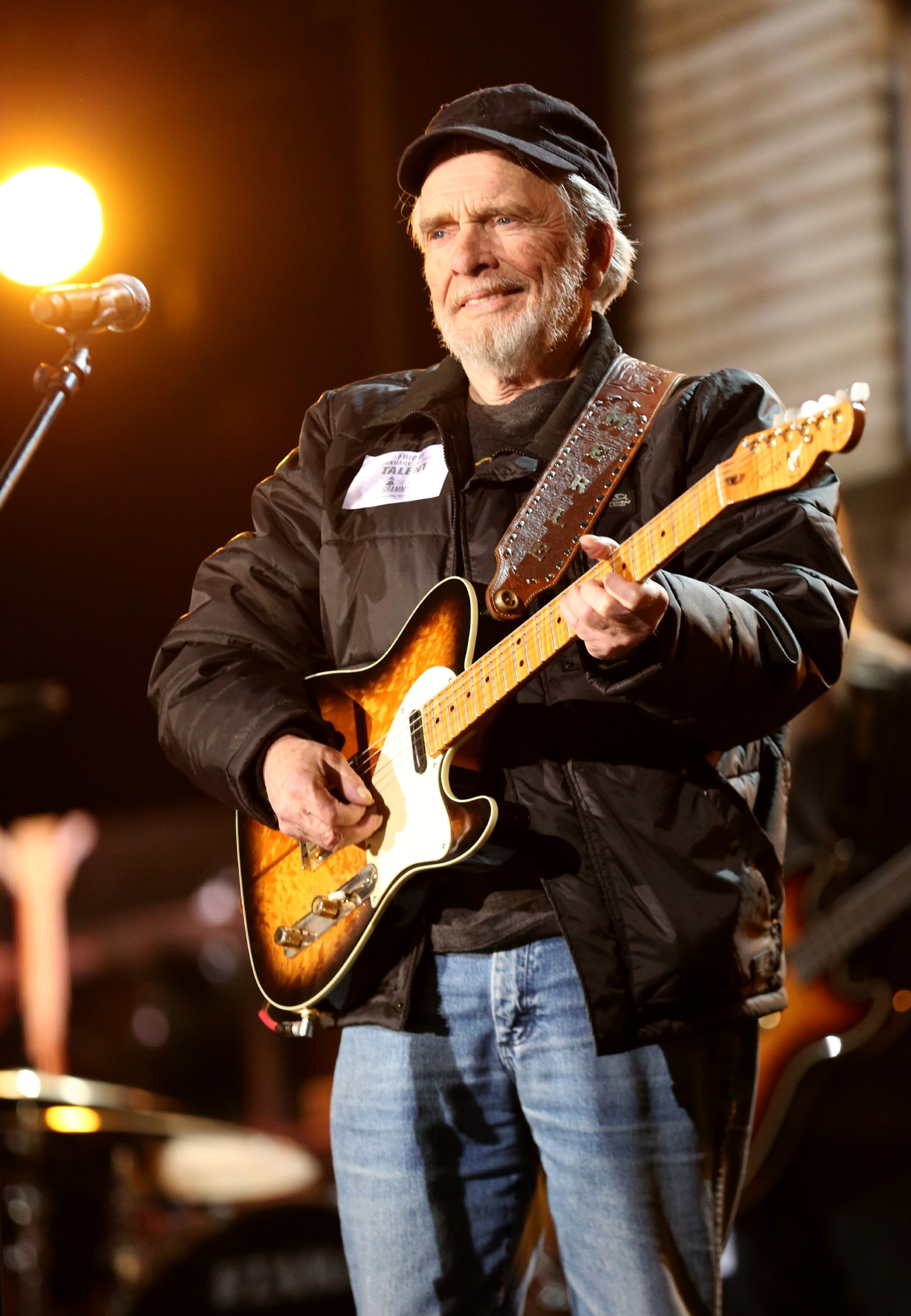 FILE - This Jan. 24, 2014 file photo shows country singer Merle Haggard during a rehearsal for the 56th Annual Grammy Awards in Los Angeles. Haggard died of pneumonia, Wednesday, April 6, 2016, in Palo Cedro, Calif. He was 79. (Photo by Matt Sayles/Invision/AP, File)