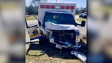 Crash with EMS ambulance sends two Okaloosa Co. first responders to the hospital