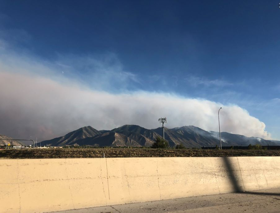 Firefighters in Utah County worked much of Tuesday to protect homes in the Pole Creek Fire evacuation and pre-evacuation zones. (Photo: RaeAnn Christensen /{ } KUTV)