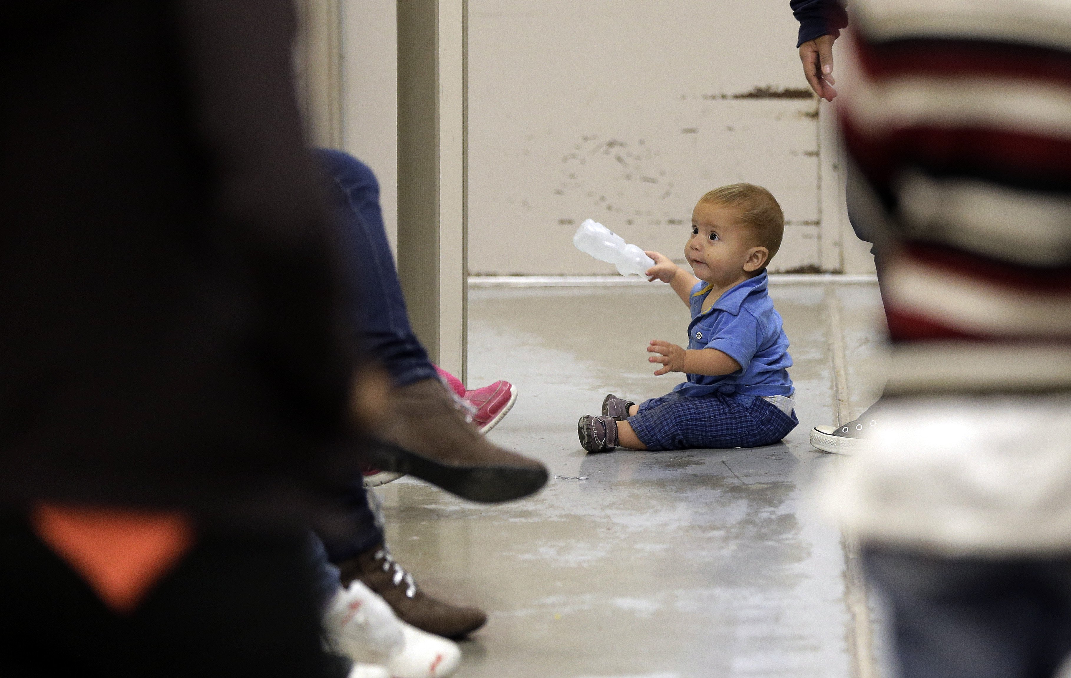 Images of children, infants in juvenile detention centers for illegal aliens taken during a media tour four years ago in Brownsville, Texas and Nogales, Arizona are a major part of the latest criticism of the national mainstream media and its coverage of President Trump. (Pool)