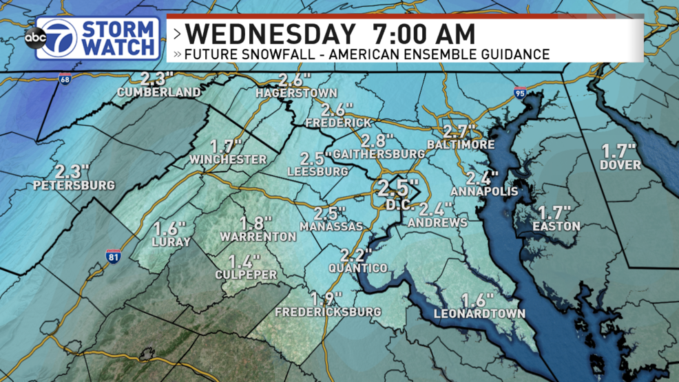 Light snow possible ahead of arctic blast in D.C. area