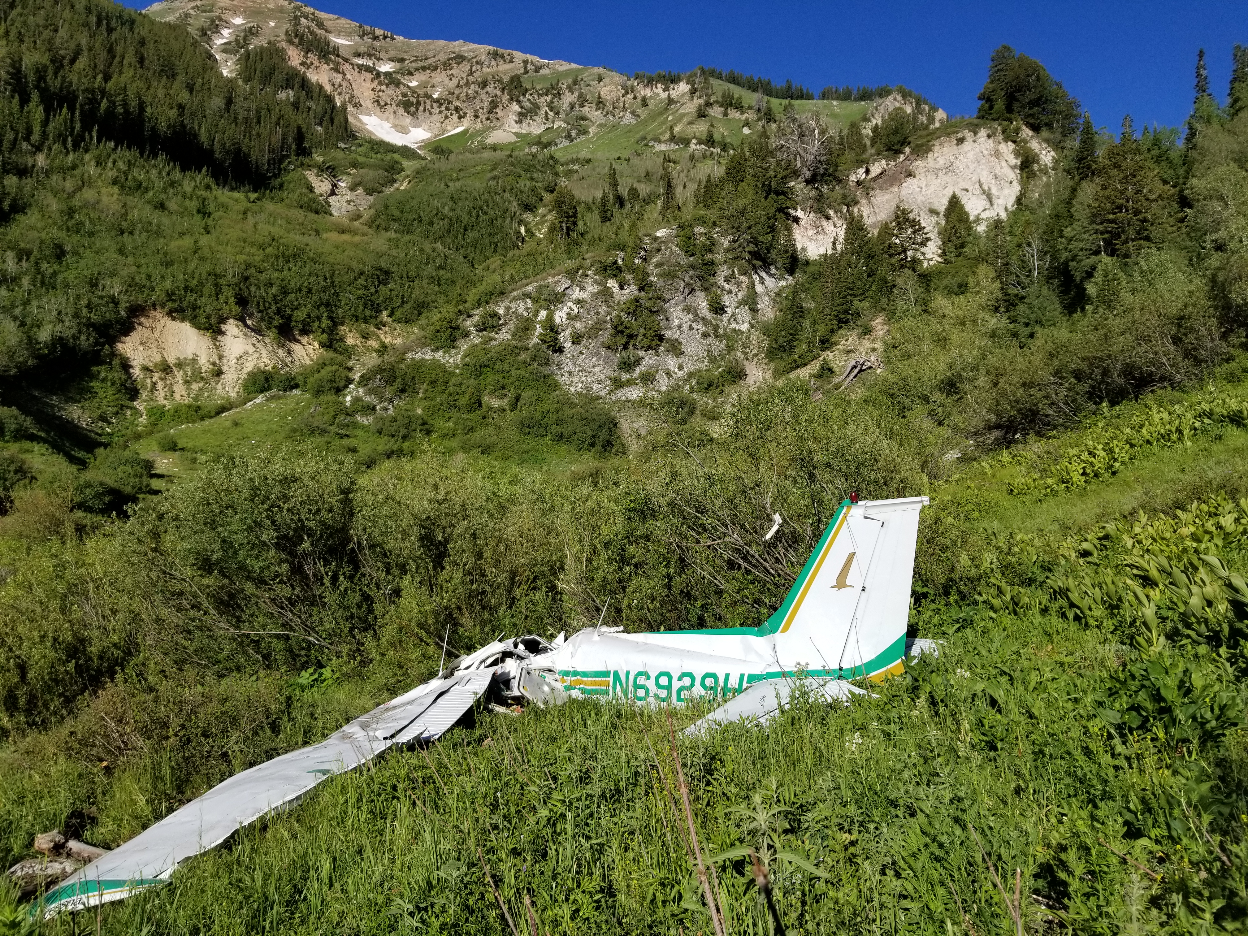 Granite Flat Campground in American Fork Canyon where an airplane crashed late Friday morning. (Gregg Rawlings)