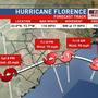 Florence weakens. Wind threat lessens, but flooding rain & storm surge threat high