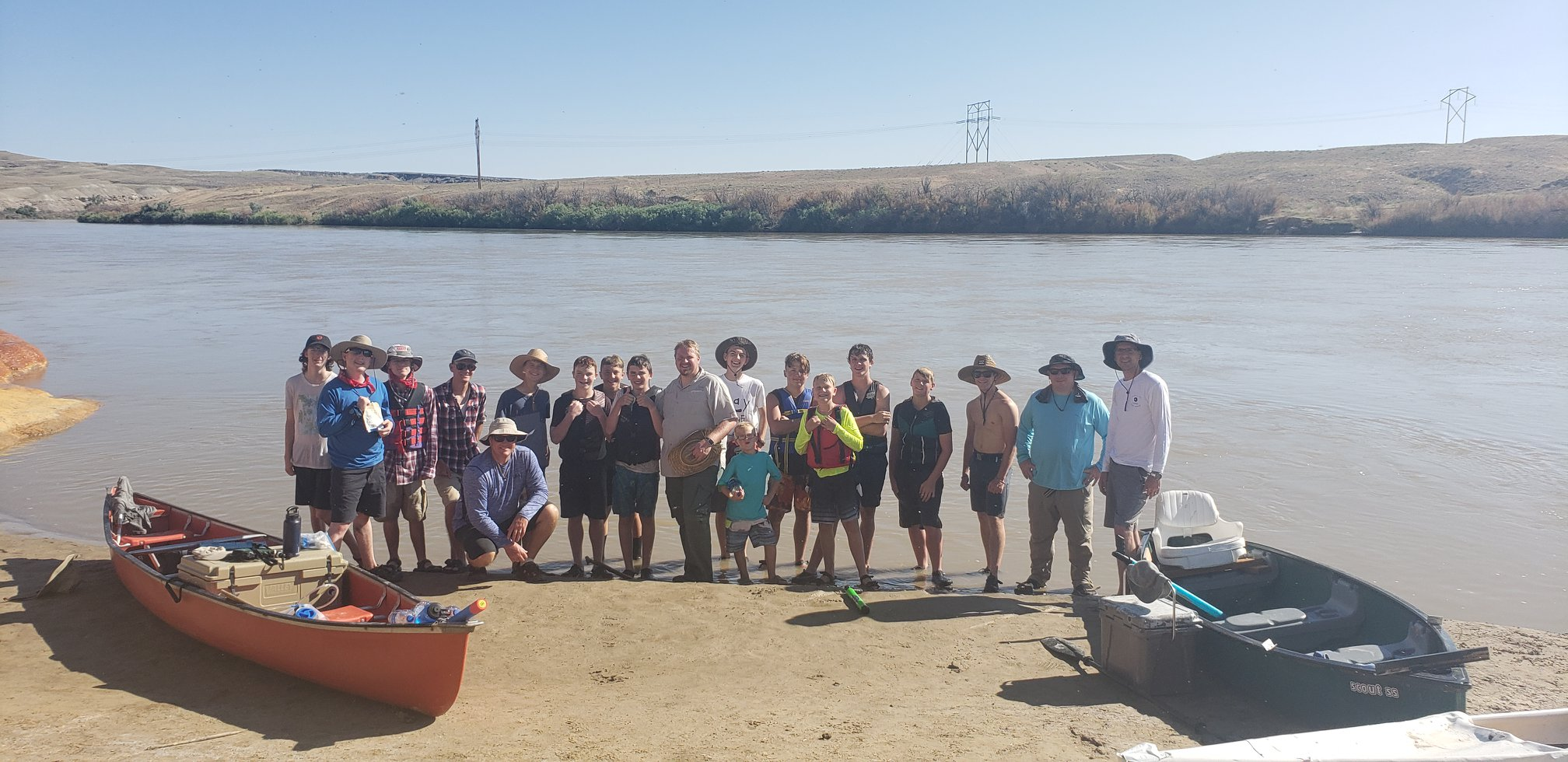 More than 20 Boy Scouts and leaders from Cedar City were rescued by{ }Emery County Sheriff's Office (ECSO) personnel from the Green River on Tuesday. (Photo: Emery County Sheriff's Office / Facebook)