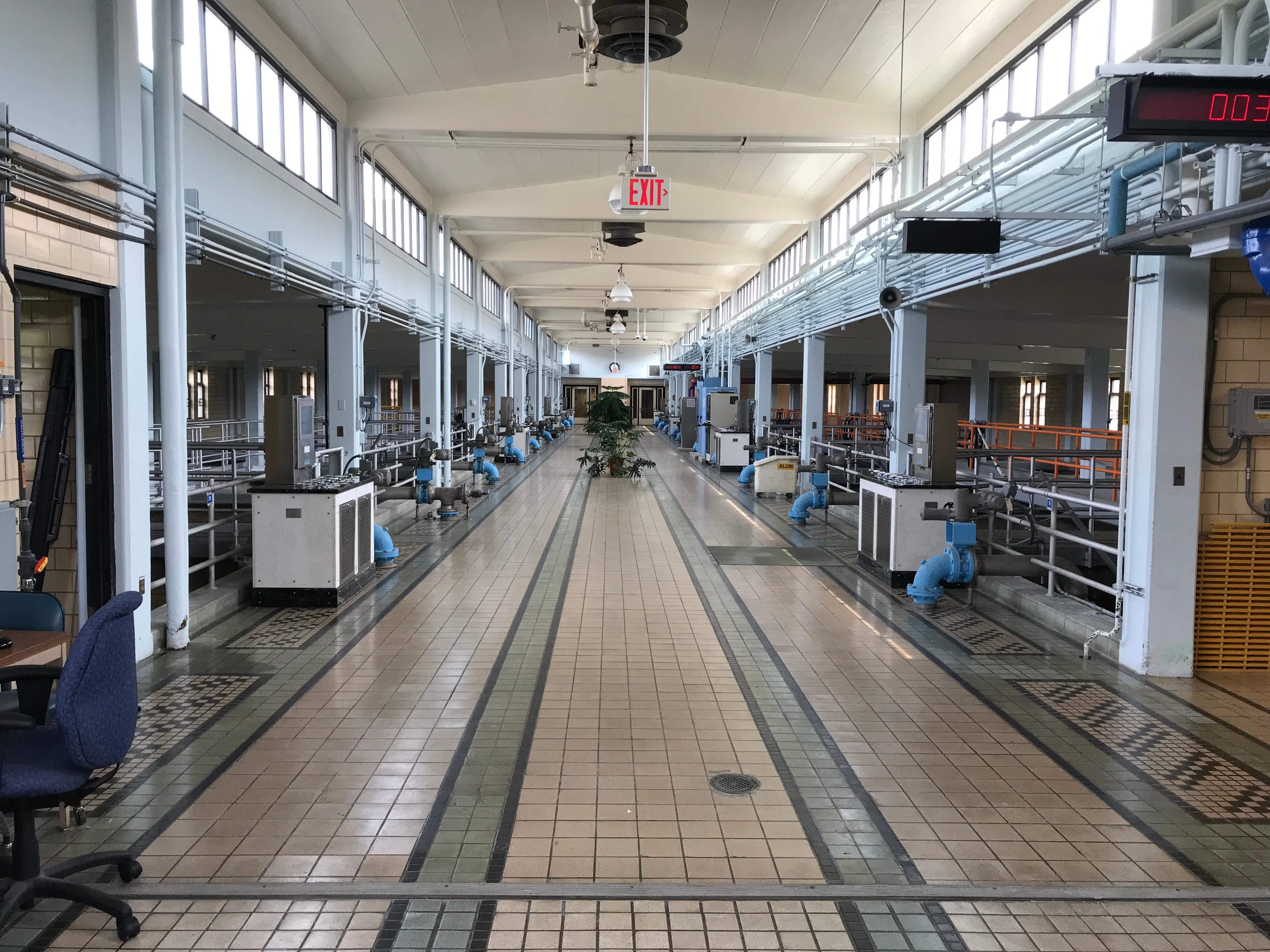 The Ann Arbor Water Treatment Plant has 26 carbon filters throughout its facility (Photo: Joce Sterman, Sinclair Broadcast Group)