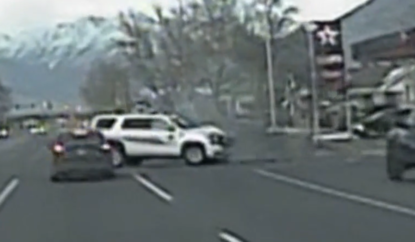 Dashcam video: Officer risks life to stop high-speed chase