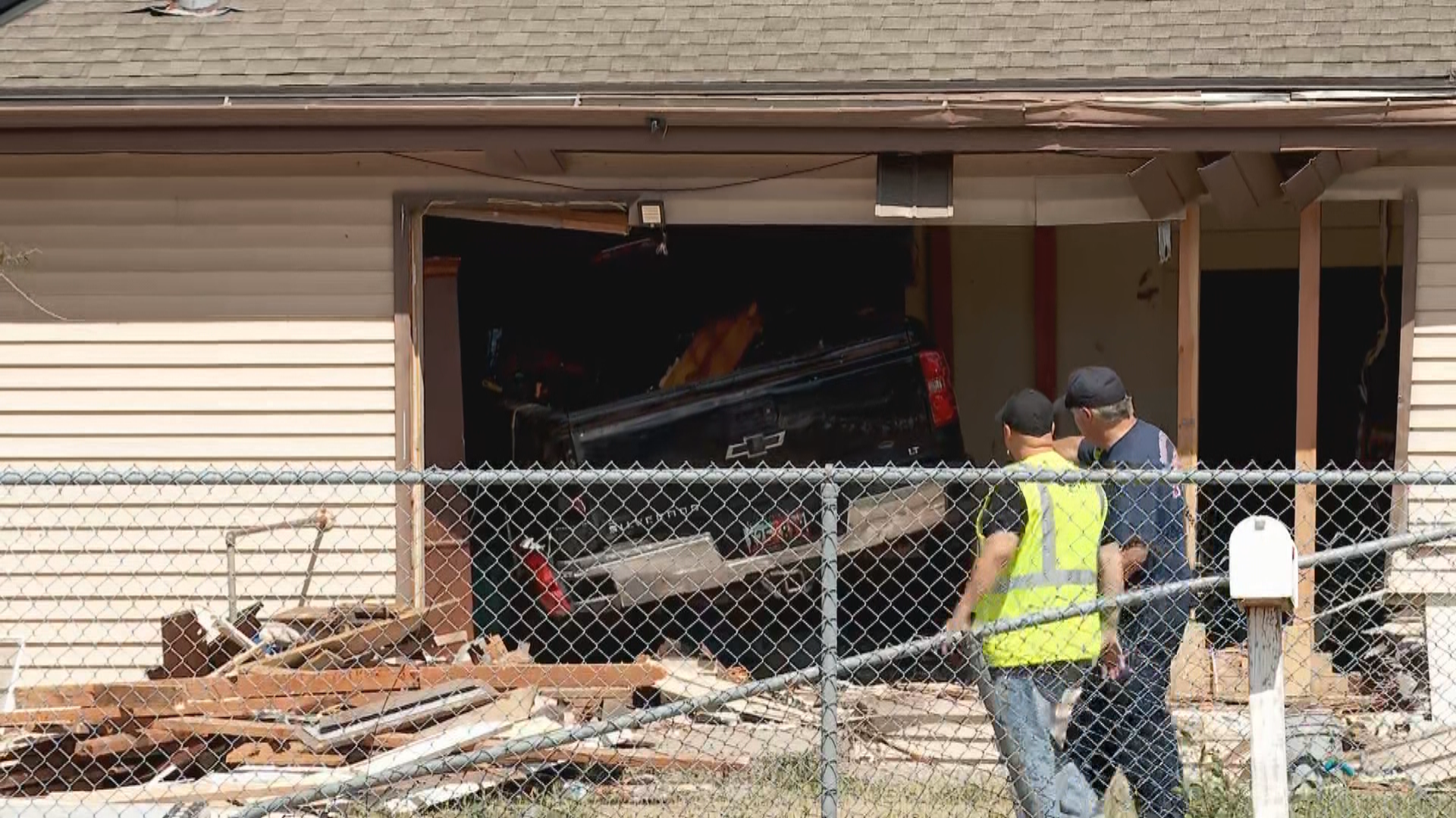 A child was seriously injured when a truck smashed through a home in South Salt Lake on Friday, July 3, 2020. (Photo: Mark Less / KUTV)