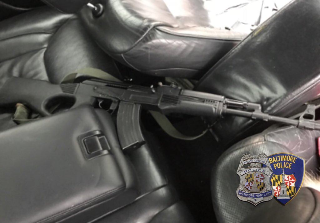 Recovered from the suspect vehicle by Baltimore Police officers (Photo: Baltimore Police spokesman T.J. Smith)<p></p>