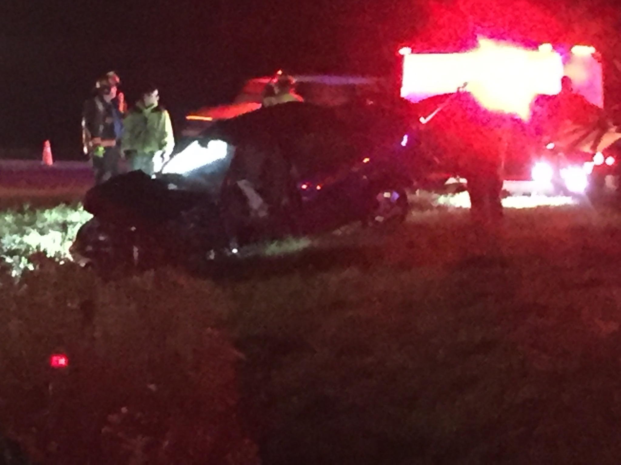 Crews with the Birch Run Fire Department say four people were injured in an accident. (Photo Credit: Tom Metevia)