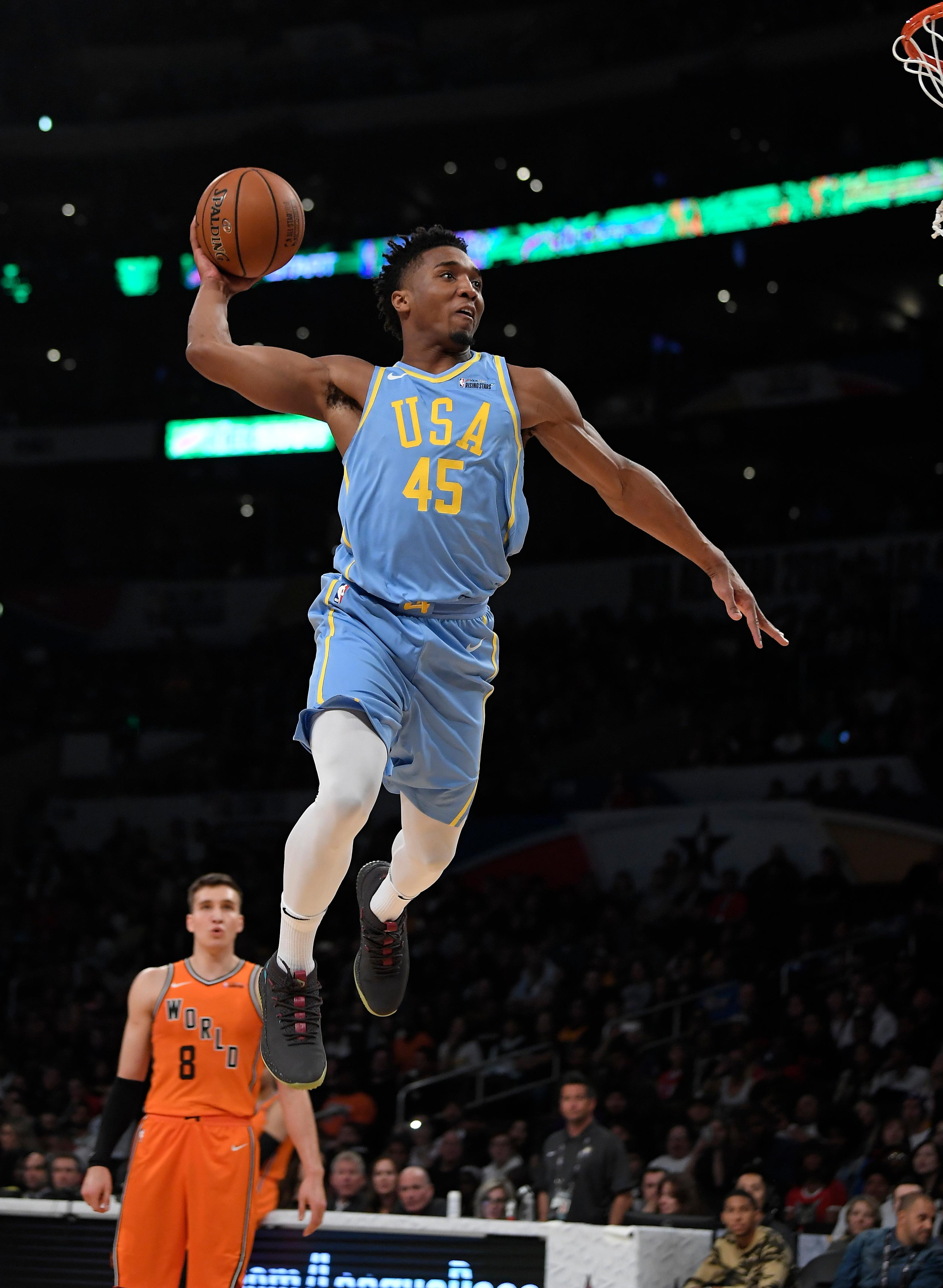 separation shoes f920a 66c49 The Latest: Jazz rookie Mitchell wins slam dunk contest | WTTE