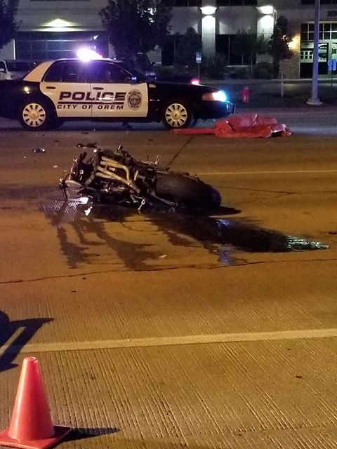 Fatal motorcycle accident on Orem State Street | KUTV