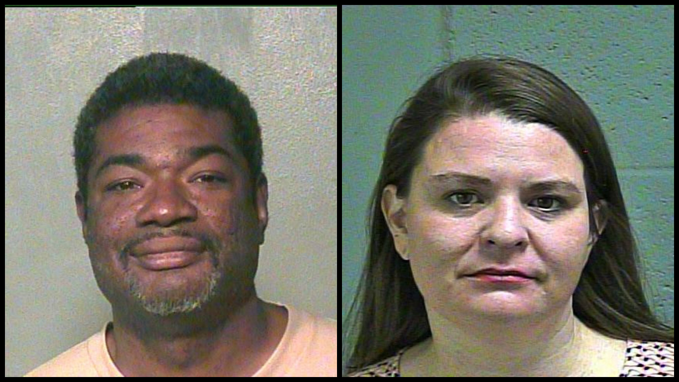 Germaine Coulter and Elizabeth Andrade are facing criminal charges connected to a human trafficking case that police say involved the recruitment of Edmond high school girls. (Oklahoma County Jail)