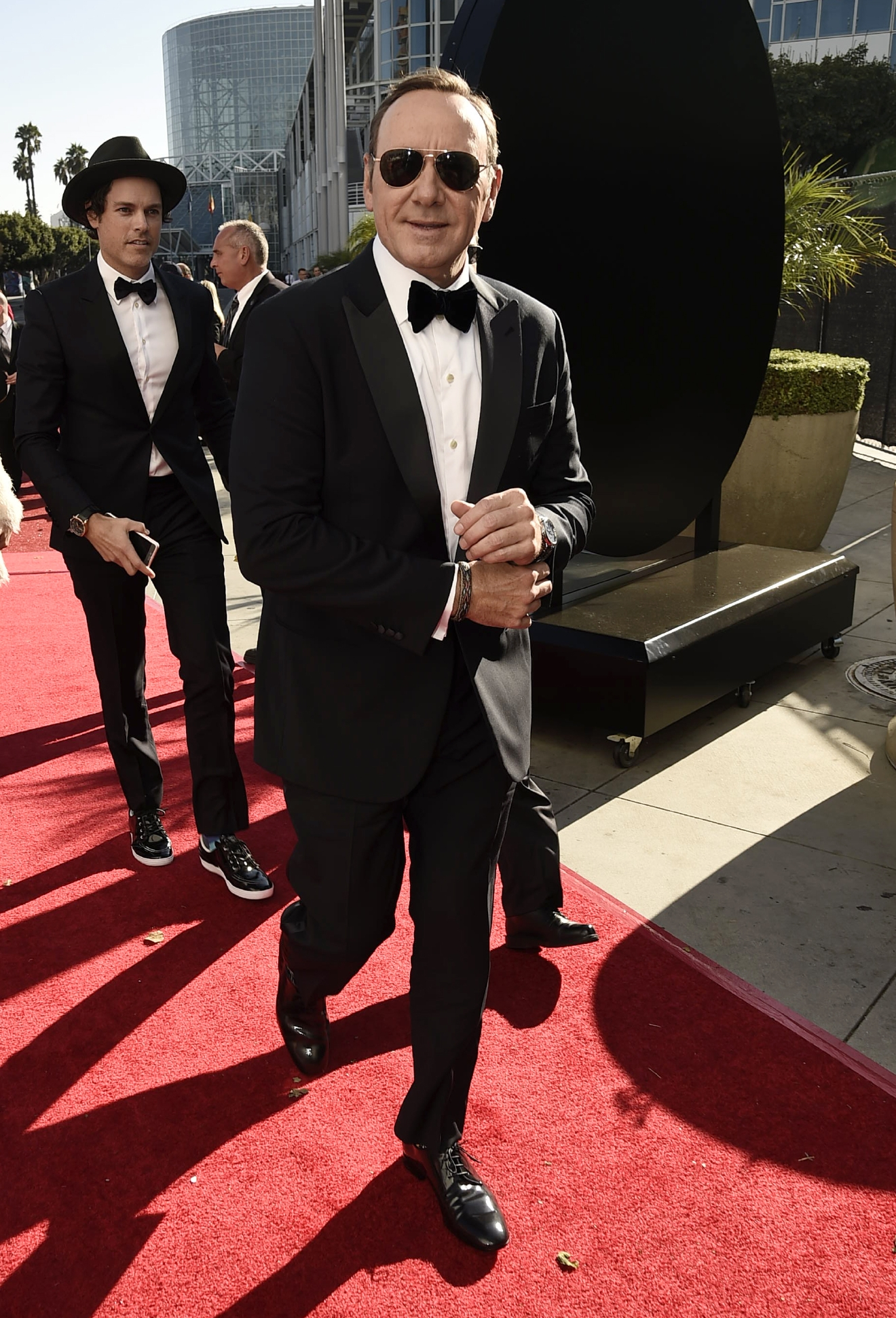 EXCLUSIVE - Kevin Spacey arrives at the 68th Primetime Emmy Awards on Sunday, Sept. 18, 2016, at the Microsoft Theater in Los Angeles. (Photo by Dan Steinberg/Invision for the Television Academy/AP Images)