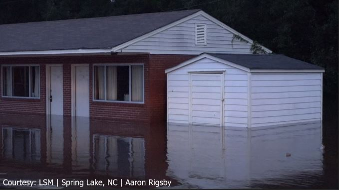 Serious flooding in Fayetteville, NC. (LSM|Aaron Rigsby)
