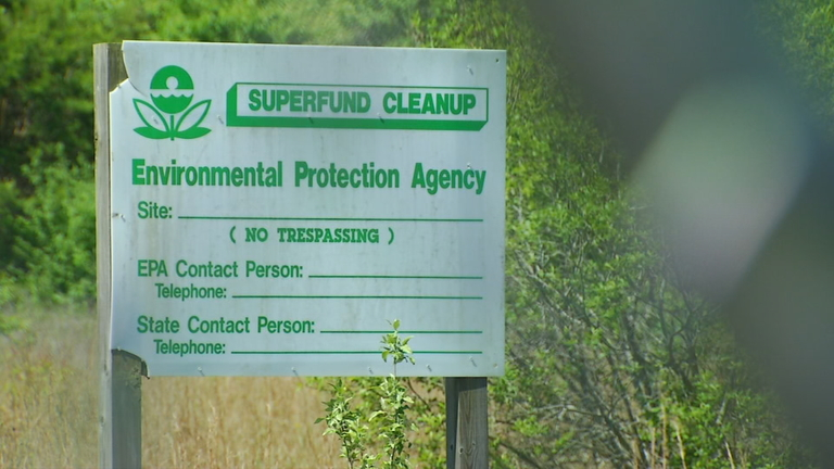 The EPA has scheduled a public meeting to discuss the start of the cleanup process at the CTS Superfund Site in South Asheville. (Photo credit: WLOS Staff)