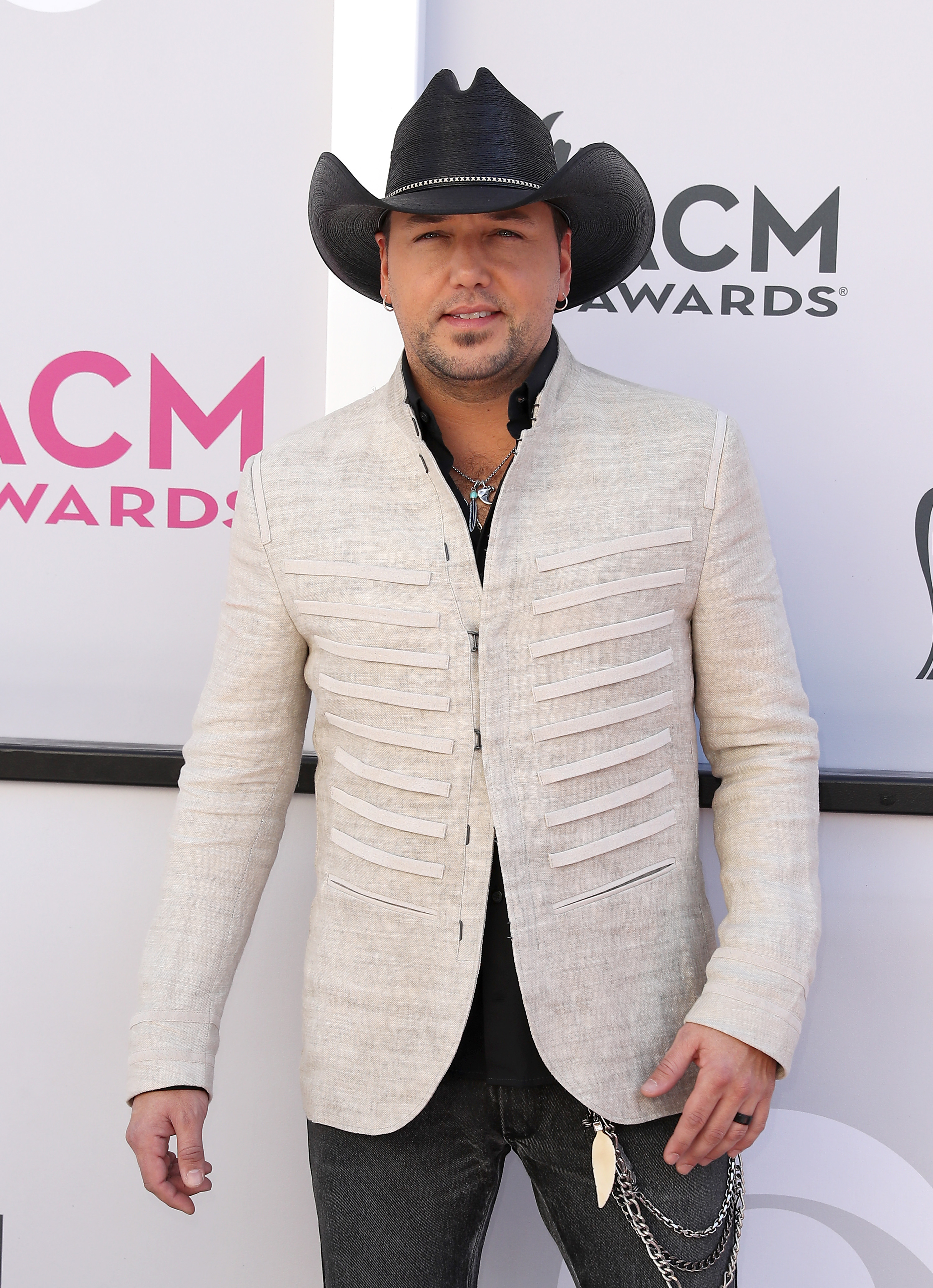52nd Academy of Country Music Awards Arrivals at T-Mobile Arena Las Vegas                                    Featuring: Jason Aldean                  Where: Las Vegas, Nevada, United States                  When: 02 Apr 2017                  Credit: Judy Eddy/WENN.com