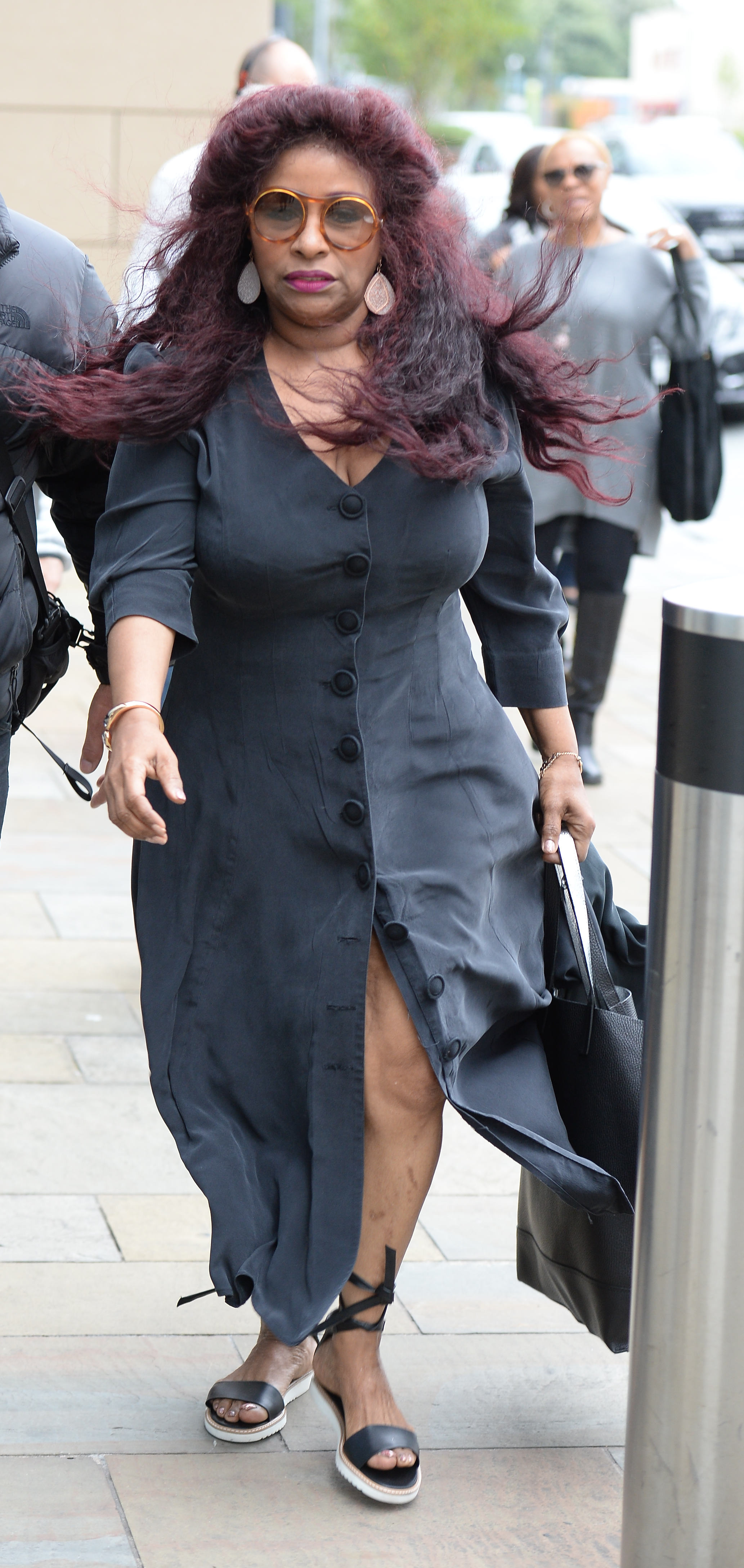 Chaka Khan arrives at Dock 10 Media City Manchester to for the 'Pitch Battle Live Final'Featuring: Chaka KhanWhere: Manchester, United KingdomWhen: 22 Jul 2017Credit: Steve Searle/WENN.com