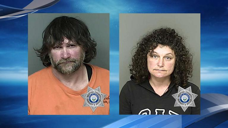 Jim Dandee Morris and Julie Ann Thurman{ }booking photos courtesy Benton County Jail