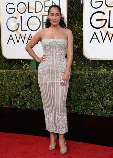 Tracee Ellis Ross arrives at the 74th annual Golden Globe Awards at the Beverly Hilton Hotel on Sunday, Jan. 8, 2017, in Beverly Hills, Calif. (Photo by Jordan Strauss/Invision/AP)