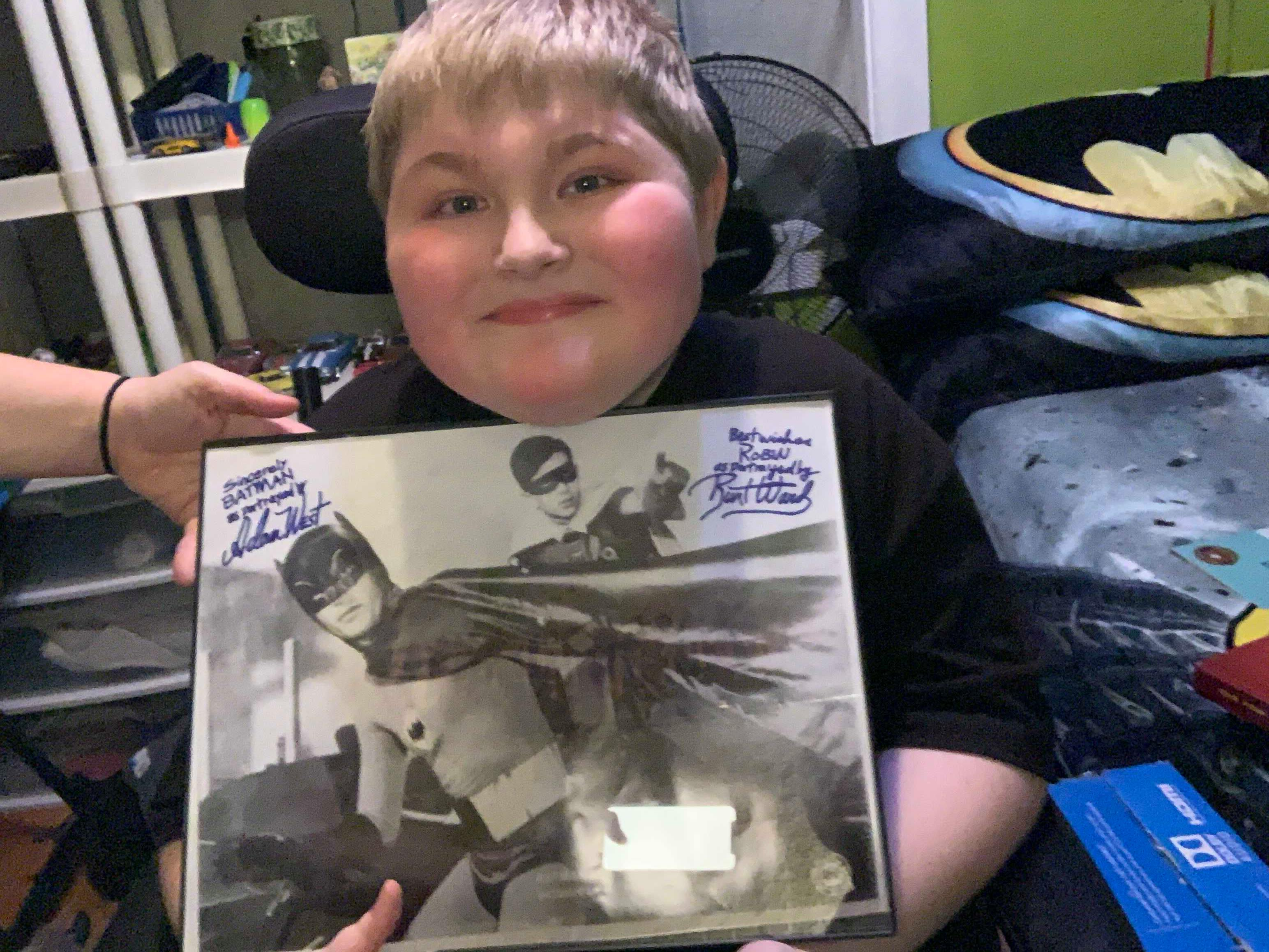 Owen Knight with one of the gifts he received for his 15th birthday. (photo provided for WHAM)