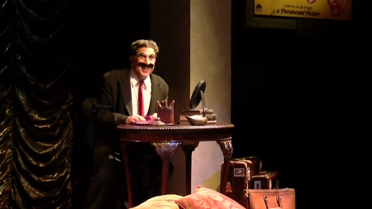Frank Ferrante stars in &quot;An Evening with Groucho&quot;. He's played Groucho Marx for 30 years (Playhouse in the Park)<p></p>