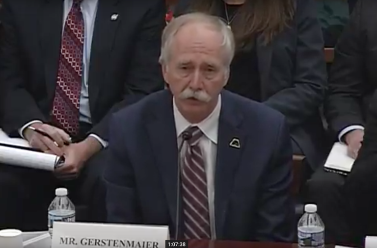 Mr. William Gerstenmaier, associate administrator, Human Exploration and Operations Directorate, NASA / Photo: The House Science, Space and Technology Committee's Subcommittee on Space