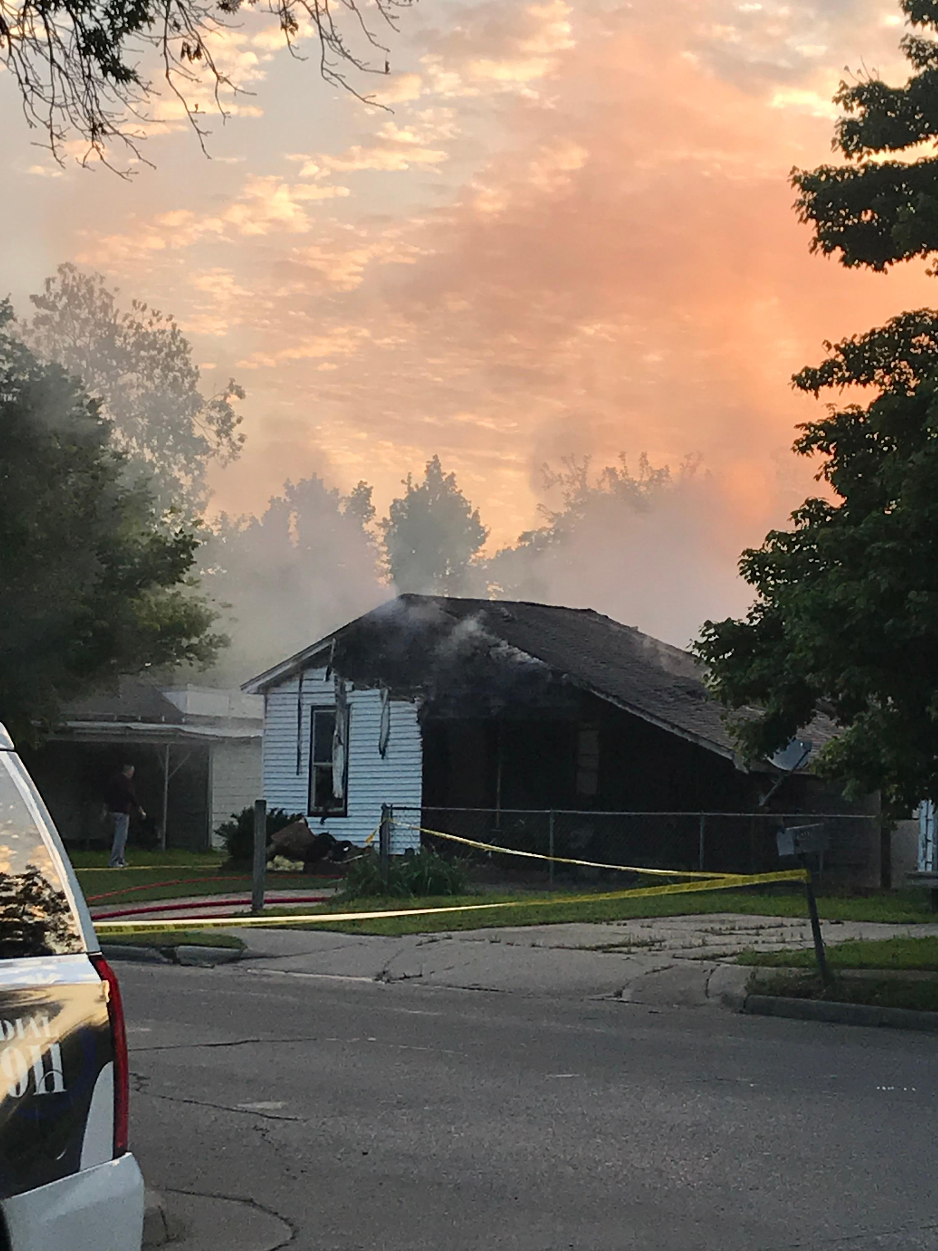 Two people were killed when their home caught fire around 6 a.m. Sunday in Pryor.{ }(Courtesy of Nancy Schaumburg)