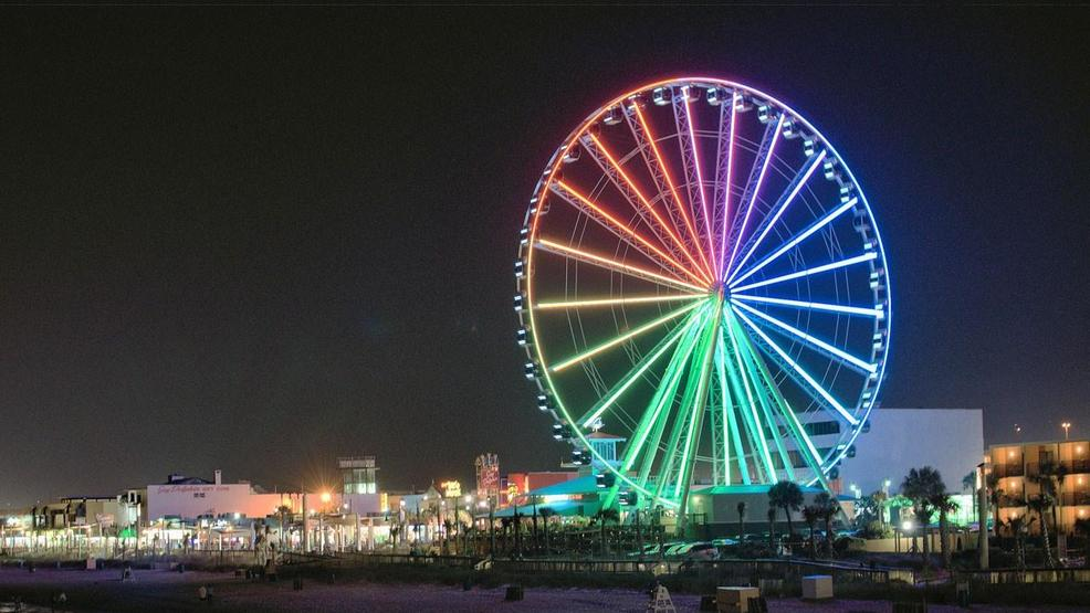 The Myrtle Beach Sky Wheel At Night Photo Dan J Flickr Cc By 2 0
