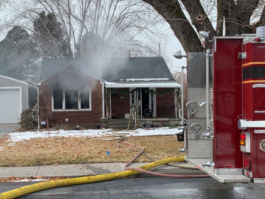 A Bountiful house fire displaced two adults with special needs on Thursday just before 12 noon.{ } (Photo: Dan Rascon / KUTV)