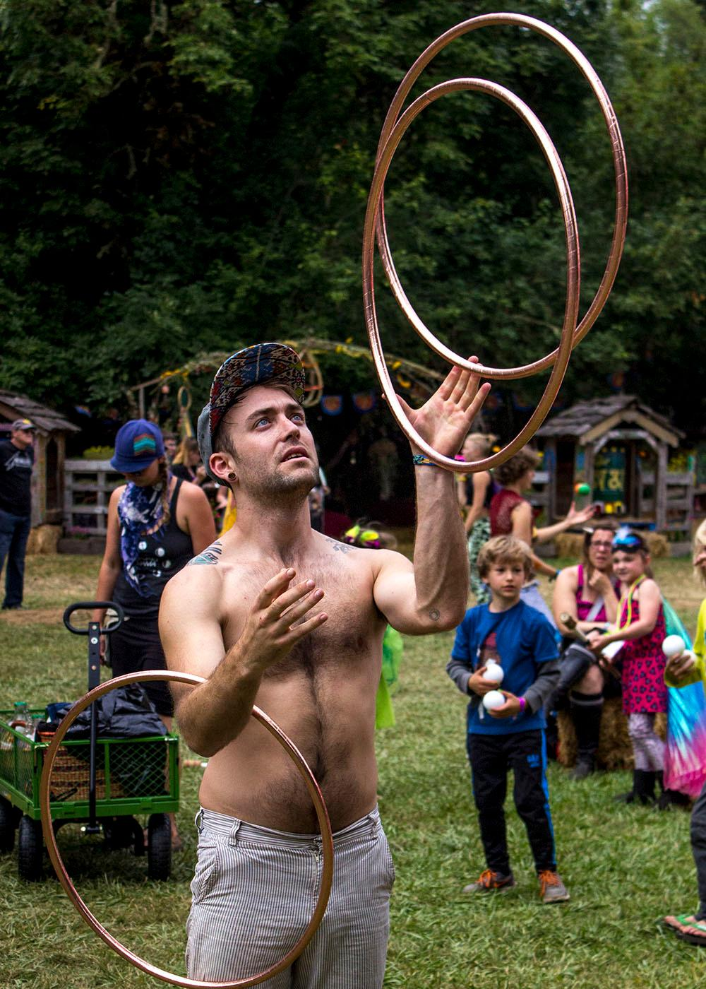 Friday marked the start of the 2016 Oregon Country Fair. The crowd was eager to enjoy the sights and sounds of the fair as soon as the doors opened at 11 a.m. The Oregon Country Fair takes place July 8, 9, and 10 at its traditional location in Veneta, Ore.  (Photo by Amanda Butt)