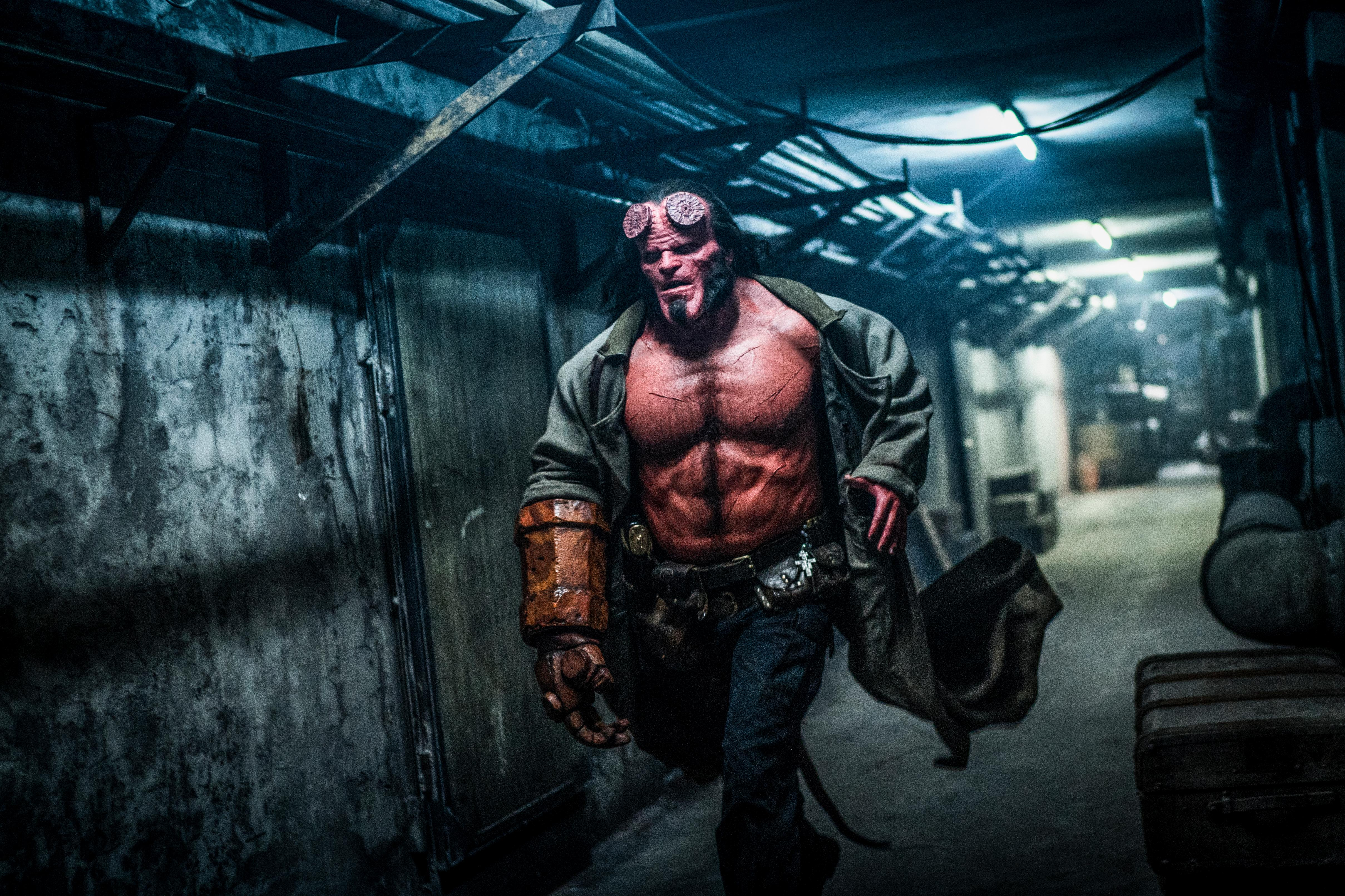 David Harbour as 'Hellboy' in HELLBOY. (Photo: Mark Rogers, Lionsgate)