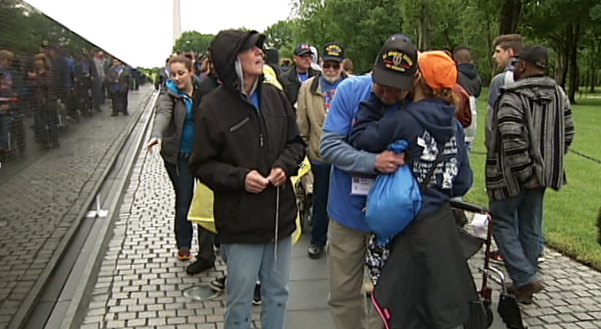 The veterans on the South Willamette Honor Flight to Washington, D.C., allowed anchor David Walker and photojournalist Loren Ruark to accompany them to the monuments erected in honor of the wars they fought. (SBG)