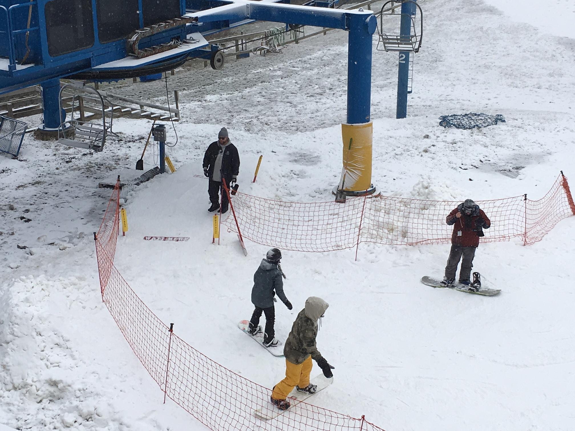 The Cataloochee Ski Area has six slopes open with a 16- to 35-inch base. (Photo credit: WLOS staff)