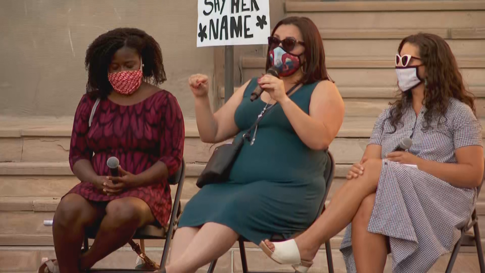 Demonstrators in Salt Lake City on Friday hoped to raise awareness for women who've been victims of racial injustice. (Photo: KUTV)