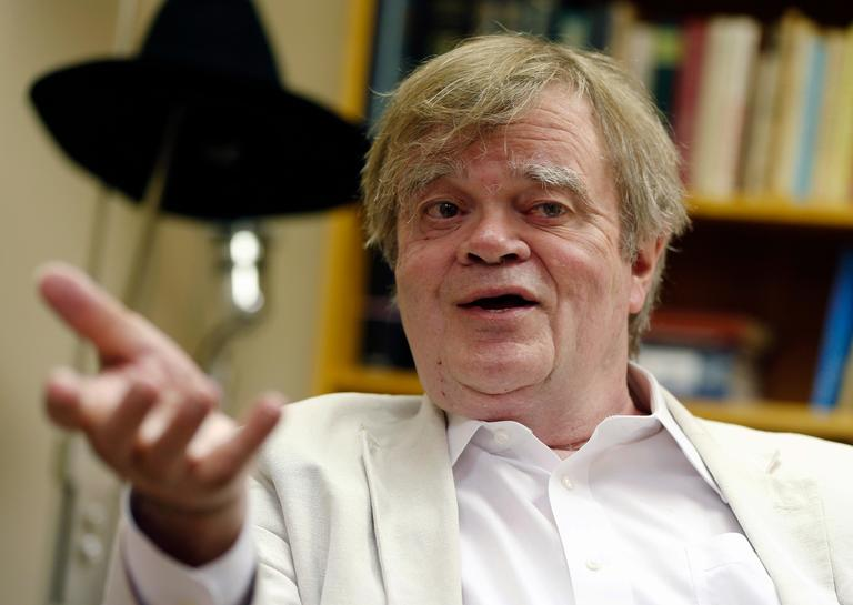 "FILE - In this July 20, 2015 file photo, Garrison Keillor, creator and host of ""A Prairie Home Companion,"" appears during an interview in St. Paul, Minn.  Keillor said Wednesday, Nov. 29, 2017, he has been fired by Minnesota Public Radio over allegations of improper behavior.  (AP Photo/Jim Mone, File)"