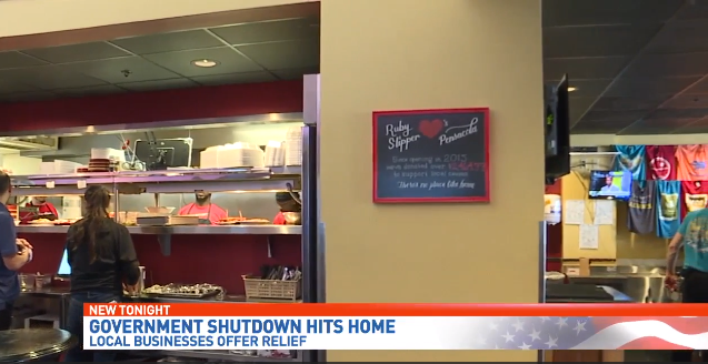 Day 21: Local businesses offer deals amid partial government shutdown. (Source: WEAR-TV)