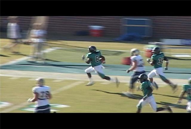 Trae Henderson returns an interception 66 yards for a CCU touchdown.